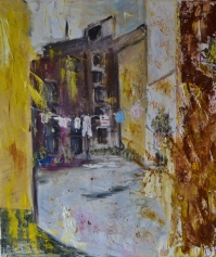 Alley gold, 60x70cm Oil on canvas, 9000,00