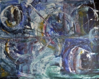 Rebirth, 100x80cm Acrylic on canvas, SEK 15 000,00