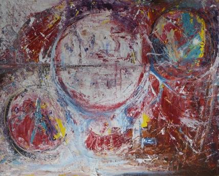 Birth of the self, 100x80cm Acrylic on canvas, SEK 15 000,00
