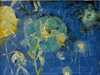 Dawn in space, 30x40cm Acrylic on canvas, SEK 4000,00
