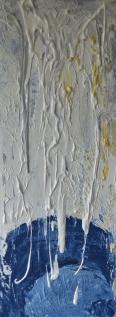 Dripping creativity, 30x80cm Acrylic and sand on canvas, SEK 7000,00