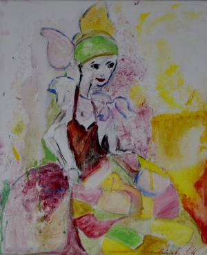 Fashion girl, 50x60cm Acrylic on canvas, SEK 5000,00