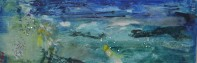 Floating love, 40x80cm Oil, sequins and tulle on canvas, SEK 10 000,00