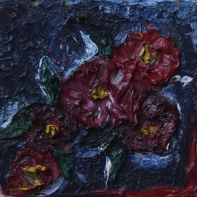 Growing in the dark, 15x15cm Oil on canvas, SEK 3000,00