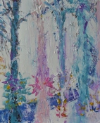 Growing into spirit, 50x60cm Acrylic on canvas, SEK 5000,00