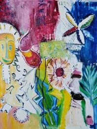 Happy land, 50x70cm Oil on canvas, SEK 11 000,00