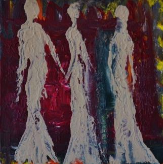 Moving stillness, 15x15cm Acrylic on canvas, SEK 2500,00