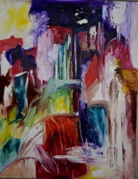 Coloring dreams, 70x100cm Oil on canvas, SEK 18 000,00