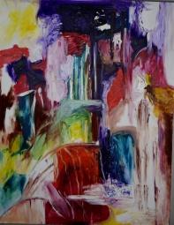Coloring dreams, 70x100cm Oil on canvas, SEK 18 000,00