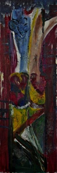 Purifying fire, 40x80cm Oil on canvas, SEK 10 000,00