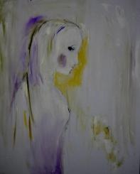 Quiet girl, 60x80cm Oil on canvas, SEK 8000,00
