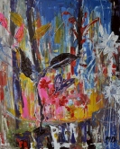 Shooting stars, 50x60cm Acrylic on canvas, SEK 5000,00