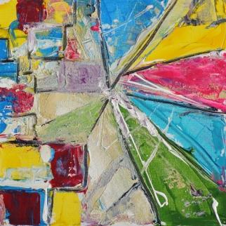 Speaking shapes, 30x30cm Acrylic on canvas, SEK 3500,00