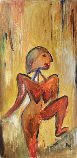 Poser, 50x100cm Oil on panel, SEK 10 000,00