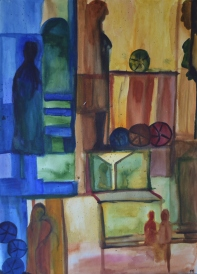 56x76cm Watercolor on paper, SEK 5000,00