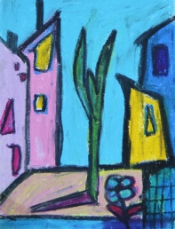 Pastel on paper in A4 cardboard passepartout, SEK 2000,00