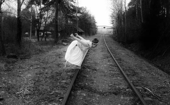 Girl on rails